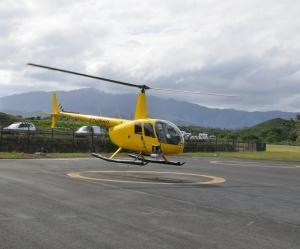 Hélicoptère équipé d'un laser Lidar